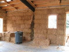 Strawbale with steel frame construction!  This is exactly what I want to do!  Their project looks great.