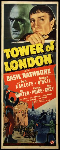 Tower of London Movie Poster Insert (1939)