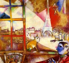 Marc Chagall has cats playing a major part in many of his paintings. Seen as simple companions and symbolic of women and domesticity, Chagall's love of cats is undeniable.