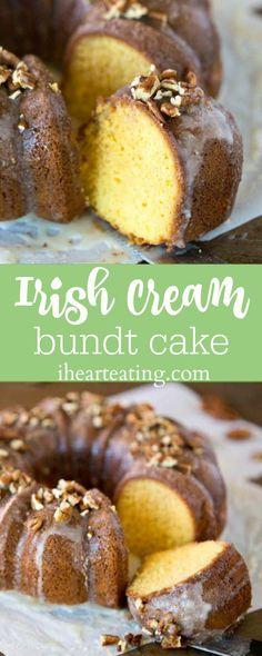 Irish Cream Bundt Cake Recipe - easy St. Patrick's Day dessert!