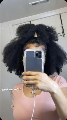 Baddie Hairstyles, Black Girls Hairstyles, 4c Natural Hair, Natural Hair Styles, Easy Natural Hairstyles, Natural Beauty, Hair Laid, Queen Hair, Natural Hair Inspiration