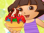 Free Online Girl Games, Dora wants to create the perfect bowl of ice cream and you are the only one that can help!  Choose different ice creams, syrups, toppings, and much more in Dora Ice Cream Decor!  See what type of delicious combinations you can create!, #dora #ice cream #cartoon #girl