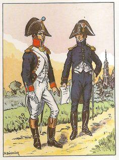 French; 8th Line Infantry, Captains, Tenue de Service & Tenue Hors de Service, 1803