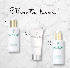 Time to cleanse! Discover the new Valmont routine to keep a perfect skin !