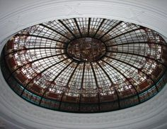 Antique Stained Glass Dome Skylight