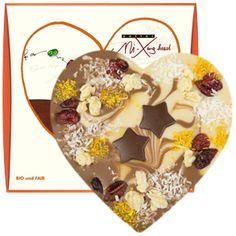 zotter Schokoladen Manufaktur: Weihnachtsherz VEGAN mit Superfoodfüllung