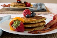 Fluffy Almond Flour Pancakes  @Zenbelly Foods & Catering