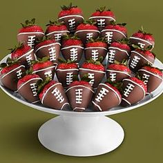 Chocolate covered strawberries- nice presentation