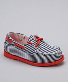 Red & Blue Stripe Alex Boat Shoe