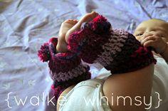 {walker whimsy}: Striped Leg Warmers {FREE Crochet Pattern of the Month}