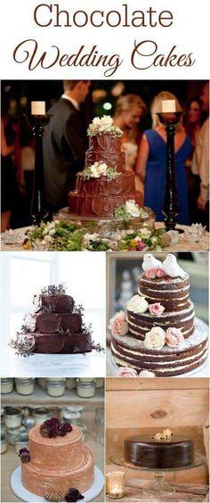 Chocolate Wedding Cake Ideas