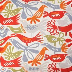 Klippan Bird Swedish Fabric - contemporary - upholstery fabric - Hus & Hem