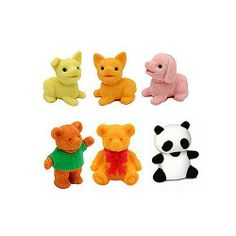 Puppy Dog and Bear Erasers Set of 6 by Iwako. $5.00. Collectable, gifts, rewards, party favors, stocking stuffers. Puzzle erasers, take apart and put back together. Eco-friendly, non-toxic, no PVC, lead free. Made in Japan. For kids over 3 years old. These little puppy dog erasers and bear erasers are so cute! There are 3 different dogs - yellow puppy dog eraser, orange puppy dog eraser and pink puppy dog eraser. There are 2 teddy bears and 1 classic Iwako panda bear. Each...