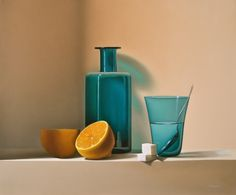 limonade - still life - Paul Magendie (French, born 1978) - oil painting