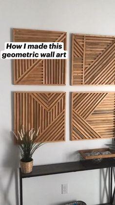 String Wall Art, Diy Wall Art, Metal Wall Art, Wood Wall, Canvas Wall Art, Diy Crafts For Home Decor, Diy Room Decor, Painted Furniture, Diy Furniture