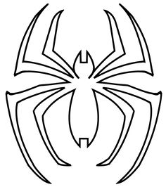 Pin by justin baker on spidey symbols pinterest spider man spider logo template voltagebd Image collections