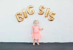 Elouise is excited to announce that she is going to be a big sister! Fun baby announcement for baby number two!