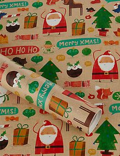 Festive Friends 15 Metre Christmas Wrapping Paper