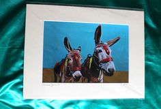 Buy Fine Art print of Donkey and Son Direct from artist Emma Cownie.