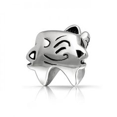 Dentist Winking Tooth 925 Sterling Silver Charm Bead Pandora Troll Compatible