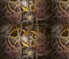 Steampunk Clockwork fabric by ep2007 on Spoonflower - custom fabric