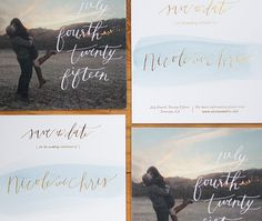 Nicole + Chris's Watercolor Photo Save the Dates / Design by Goodheart Design / Printing by Czar Press / Oh So Beautiful Paper