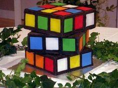 Magic Cube Cake / Kuchen Zauberwürfel