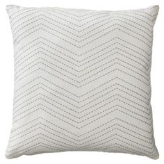 DINING ROOM SEATING AREA COUCH 16.99 Room Essentials® Embroidered Chevron Toss Pillow - Cream/Gray (18x18