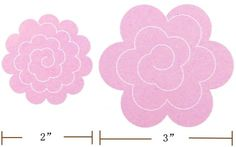 felt rose templates | If you don't have big shot machine, use the template below ( Click ...
