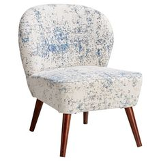 Fauteuil Antibes Wit Blauw