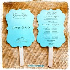Wedding Program Fan Double Sided Cut By Detailsbeyonddesign