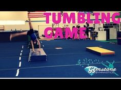 A simple game that you can play with any level of tumbling, and almost any skill! Modify the skill and equipment to fit your athlete's needs. Types Of Gymnastics, Gymnastics Games, Gymnastics Lessons, Tumbling Gymnastics, Gymnastics Coaching, Gymnastics Training, Olympic Gymnastics, Fun Sleepover Games, Games
