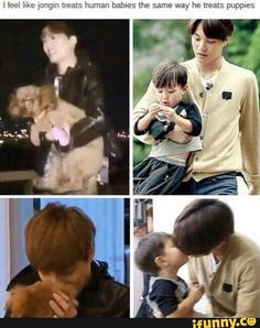 How Jongin treats precious, small things <<< I feel like this needs comparison shots of Luhan holding children and dogs awkwardly^.^