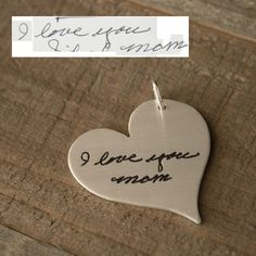 Get your love notes out of storage and do something special with them! -Scripted Jewelry