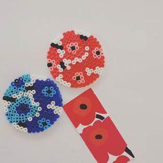 Marimekko coasters perler beads by yuzmiy