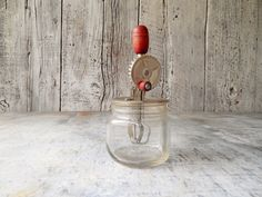 Betty Taplin Toy Egg Beater with Jar Guard & Jar by FoxberryHill