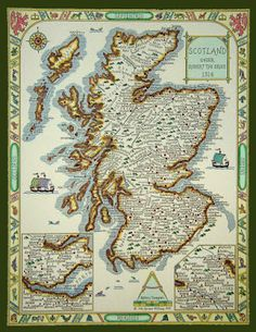 Map of Scottish Clans under Robert the Bruce, Wallace? (my last name, also a Scottish clan) Outlander, Scottish Clans, Scottish Highlands, Edinburgh, Glasgow, Celtic, Scotland History, Scotland Map, Aberdeen Scotland