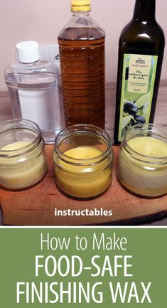 Make 3 different beeswax food-safe finishing waxes with minimal cost and time. Great for polishing furniture, finishing wooden tool handles, protecting steel surfaces from corrosion, and making lip balm. Beeswax Furniture Polish, Beeswax Polish, Homemade Furniture Polish, Wood Sealer, Wood Wax, Beeswax Recipes, Diy Cutting Board, Cleaning Recipes, Natural Cleaning Products