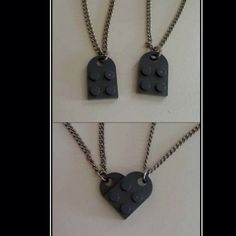 Lego heart necklace.