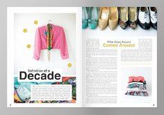 headline placement - cutting into center of columns FIDM dialogues magazine - BRI EMERY