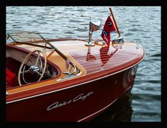 Chris Craft - love a classic wooden boat / quality! Chris Craft Wooden Boats, Wooden Speed Boats, Classic Wooden Boats, Vintage Boats, Old Boats, Wooden Ship, Boat Stuff, Yacht Boat, Power Boats