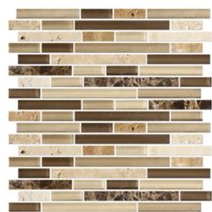 Kitchen backsplash we are looking at doing with black countertop and brown cabinets