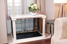 """Features: -White color. -Solid crate cover that comes with metal crate turning the crate into a functional """"table"""" surface while its original structure is kept intact to keep the pet confined. -Imp"""