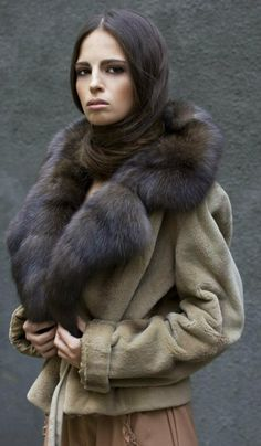 sable & sheared mink fur jacket