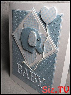 Baby boy card baby boy new baby boy welcome baby b #Baby #Baby_Shower_boy_card #blank #Blue #boy #Card #checks #dimensional #embossed #Etsy #Handmade #Shower #white