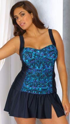 Delta Burke Plus Size Skirtini - Shore-Fit Sunwear - Women's Swimwear Boutique seperates $99