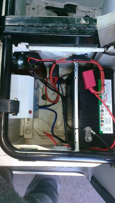 vw t5 with leisure battery 8 stage charger and rcd under. Black Bedroom Furniture Sets. Home Design Ideas