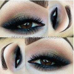 "Elegant smokey eyes by  @Sharona Usher with our ""STELLA"" mink lashes and palette from @Too Faced Cosmetics Visit us at www.FlutterLashes.com"