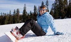 Snowboarding at Badger Pass in Yosemite