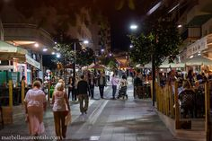 Street Miguel Cano in Marbella Town Centre at night